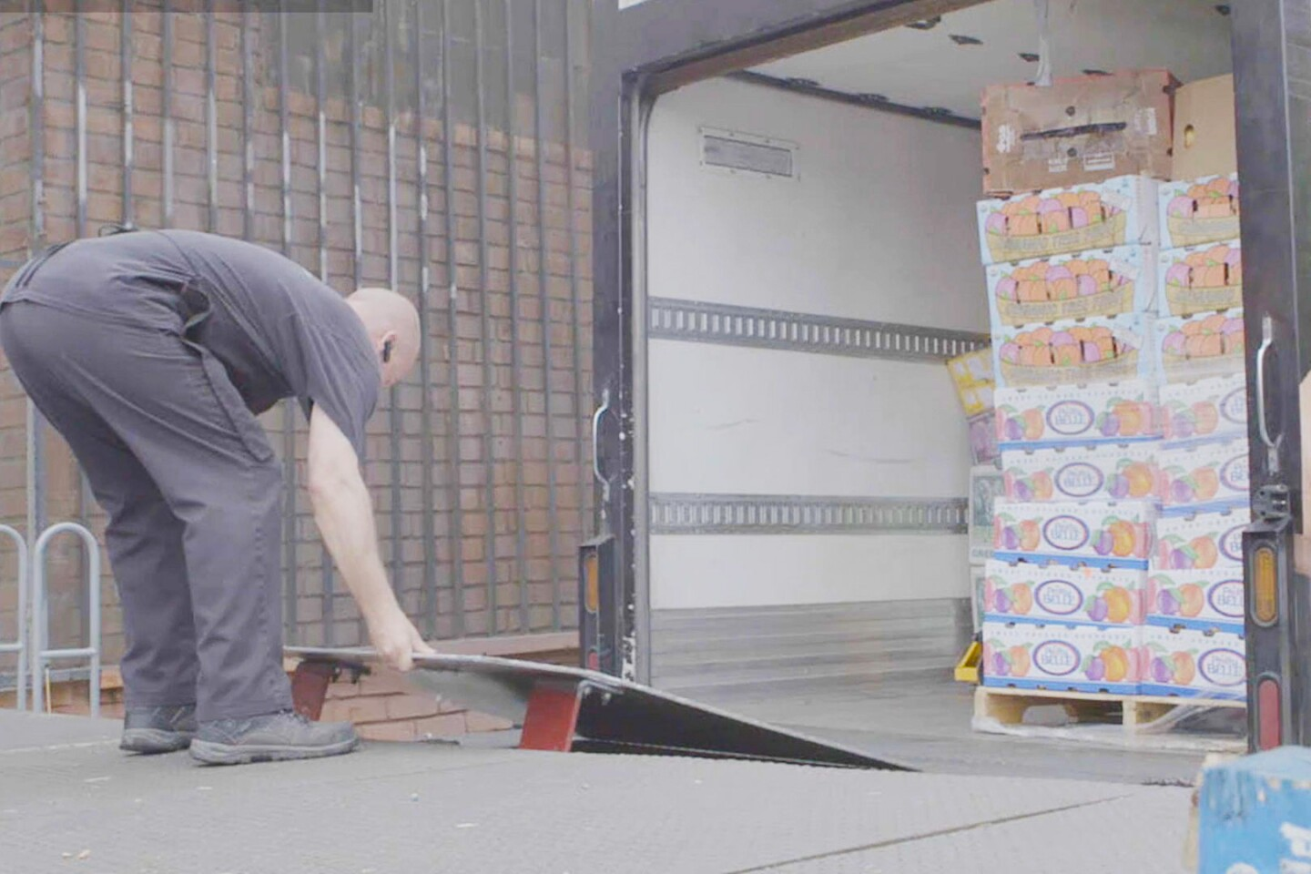 "Crates of fruit at L.A. Kitchen | Still from ""Broken Bread"""
