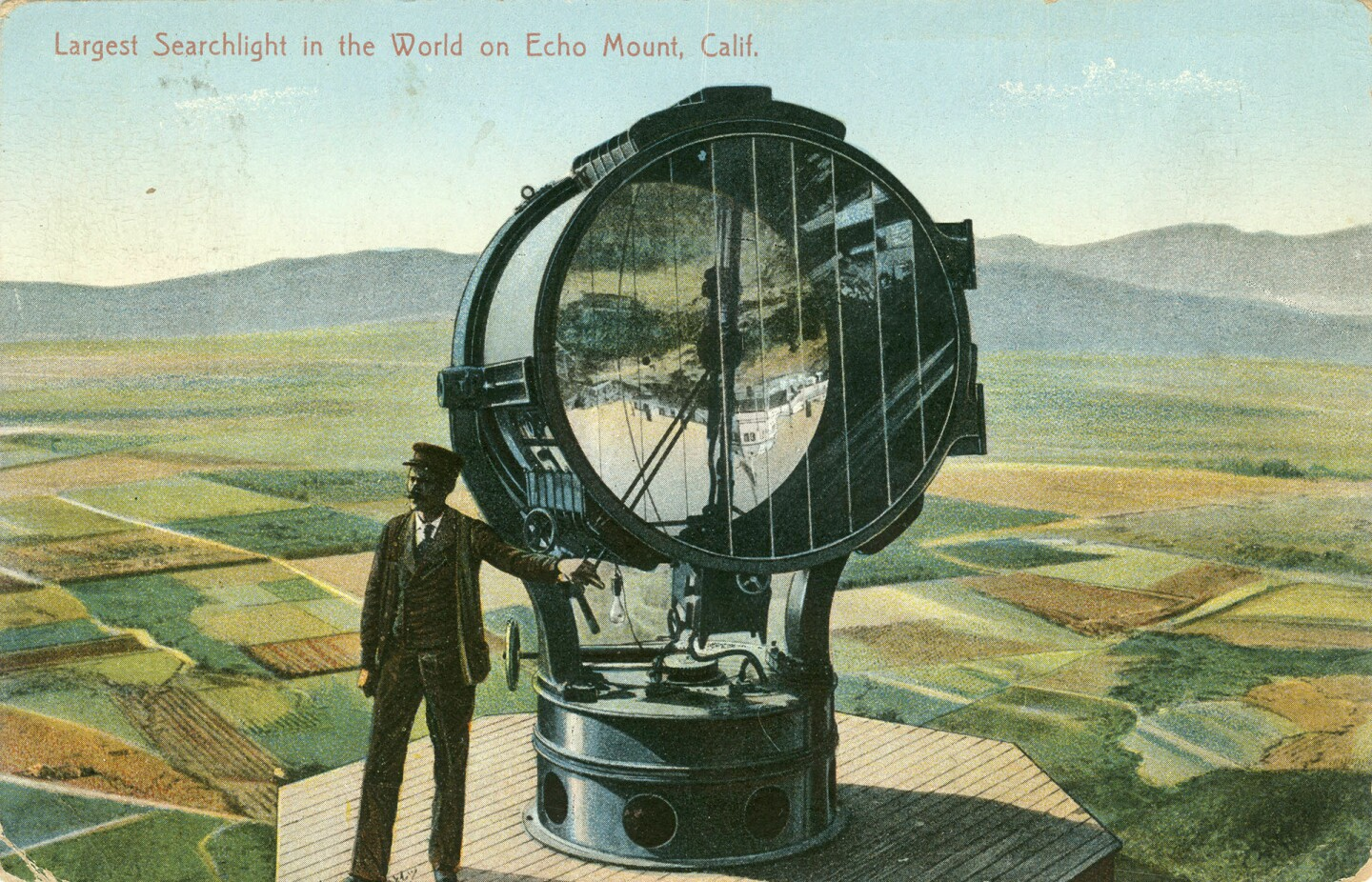 The Largest Searchlight in the World on Echo Mount, Calif.