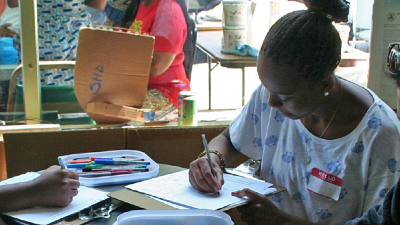 Anbiya drawing her personal map
