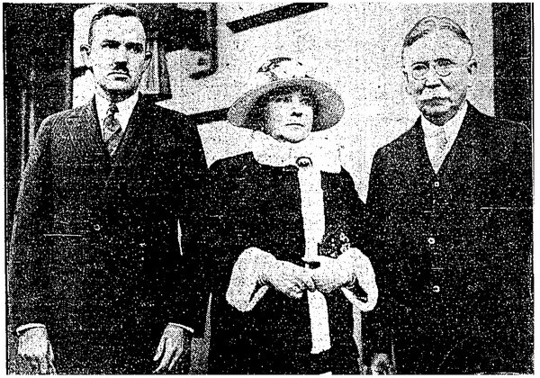 Ned Doheny with his mother and father   L.A. Times, February 18, 1929