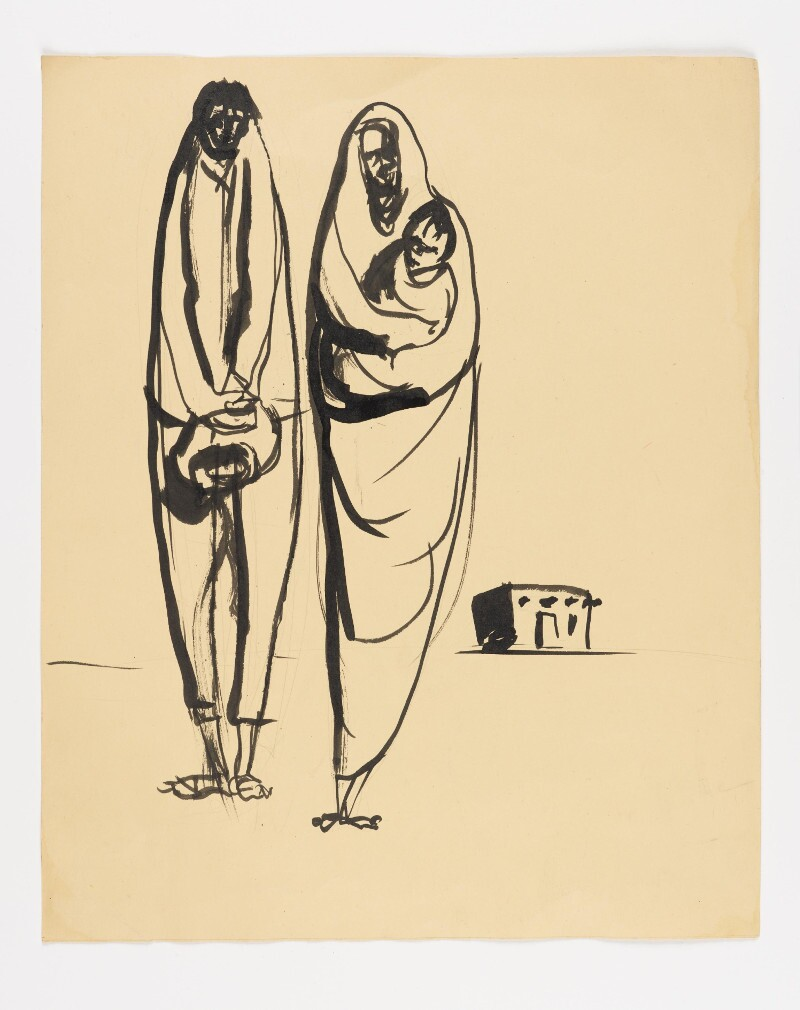 José Montoya, Untitled, date unknown. Ink on paper, 35 x 30 cm. Courtesy of the Montoya Family Trust.