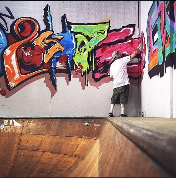 2SHAE work in progress, at Hurley Skate Park