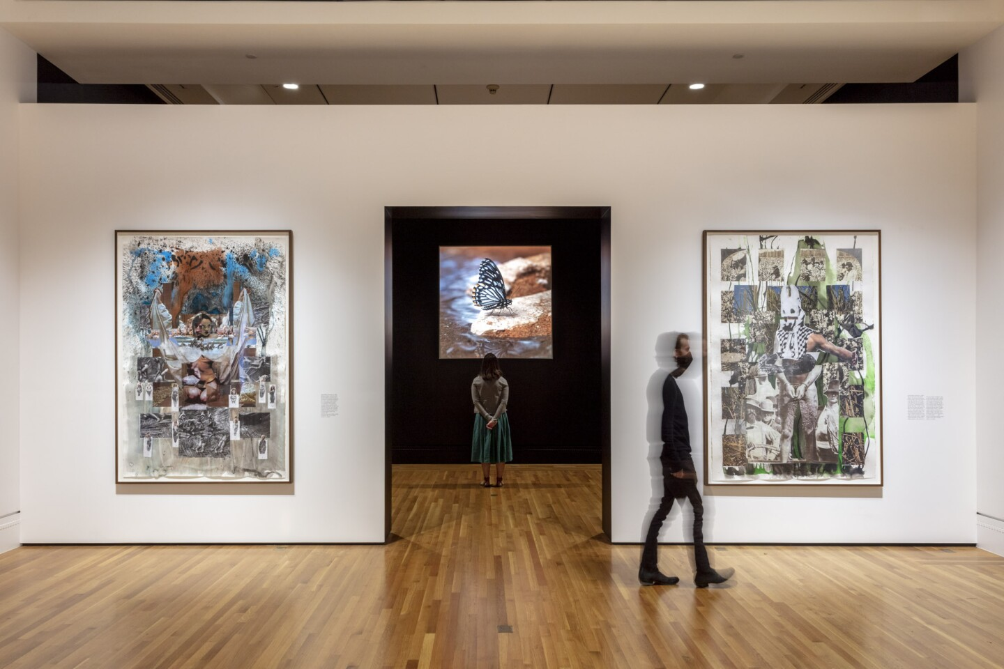 "An installation view of Jeffrey Stuker's work at ""Made in L.A. 2020: a version"" at The Huntington Library, Art Museum, and Botanical Gardens, San Marino. 