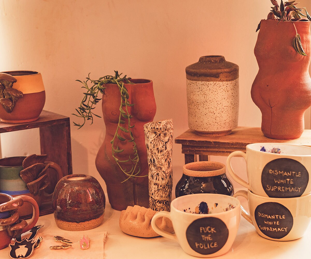 Some of the pottery created at POT | Views