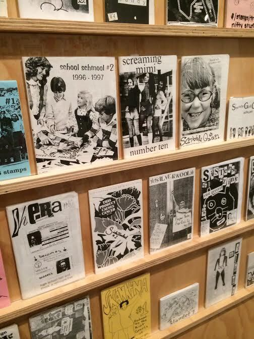 """A segment of the zine collection in """"Alien She."""" 