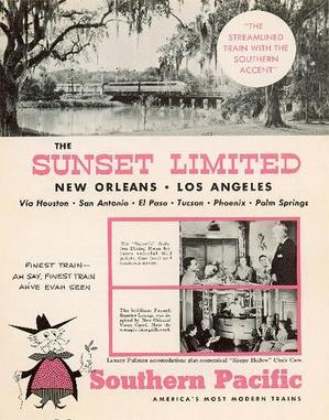 Sunset Magazine was named after this line of the Southern Pacific railroad.