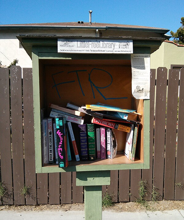 Little Free Library | Photo by NELA RC summer intern Gary Chan