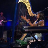Low Leaf Performing on Studio A with Harp and Musicians