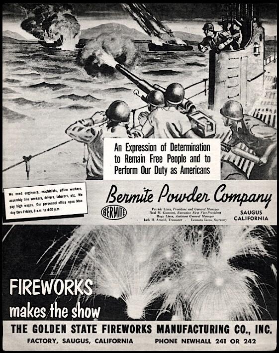 Bermite Powder Co Advertisement