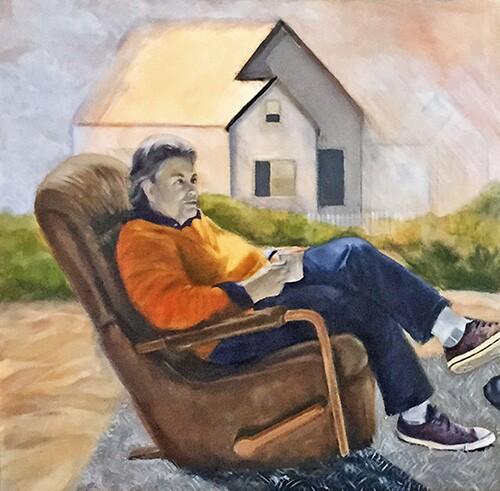 Detail of a Kate Moldauer portrait. | Photo: Paula McCambridge.