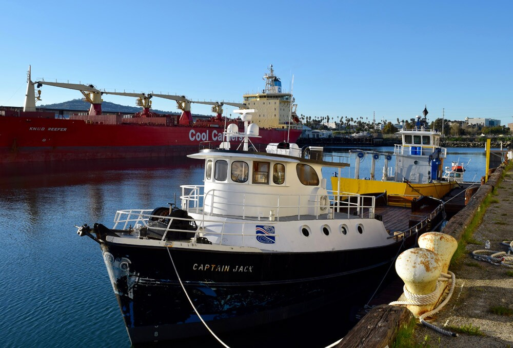 """Catalina Sea Ranch's research vessels, """"Captain Jack"""" and """"Enterprise"""""""