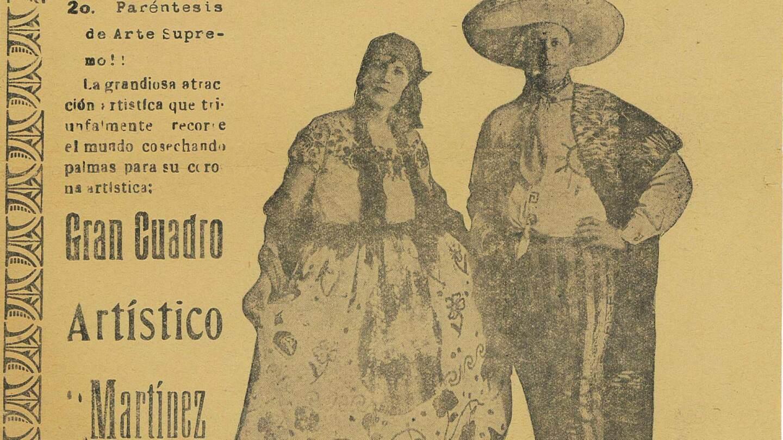 Martinez del Rio performance poster at Teatro Princesa   Courtesy of Rubén Martinez