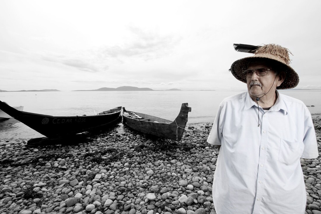 Chief Bill James (Lummi Nation), 2014. Photographed by Matika Wilbur for Project 562.
