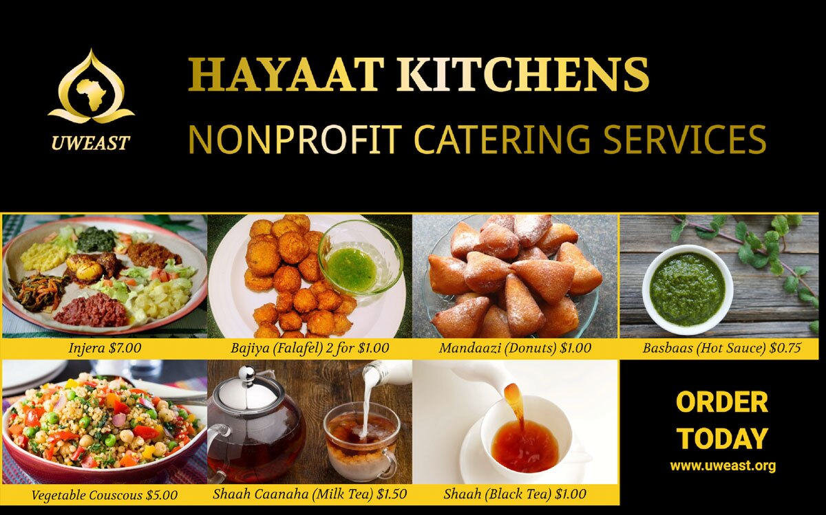 Hayaat Kitchens flier | Courtesy of United Women of East Africa Support Team