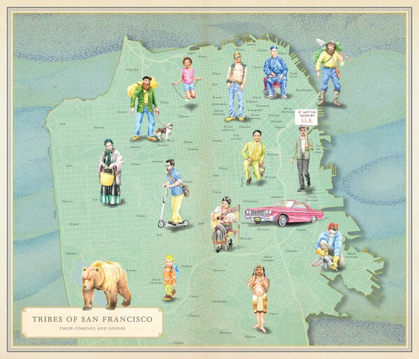 'Tribes of San Francisco' map from 'Infinite City'