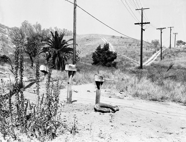 By 1957, only 20 families remained in Chavez Ravine. Courtesy of the Los Angeles Examiner Collection, USC Libraries.