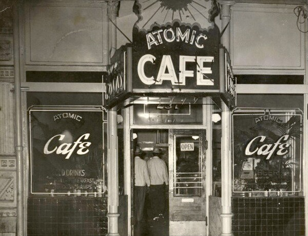 Atomic Cafe at its original location, soon to be displaced by the LAPD Parker Center