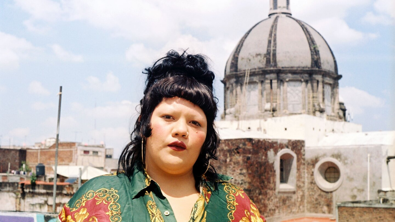 Gabriela Ruiz on the rooftop of her current working studio in Mexico City | Samanta Helou Hernandez
