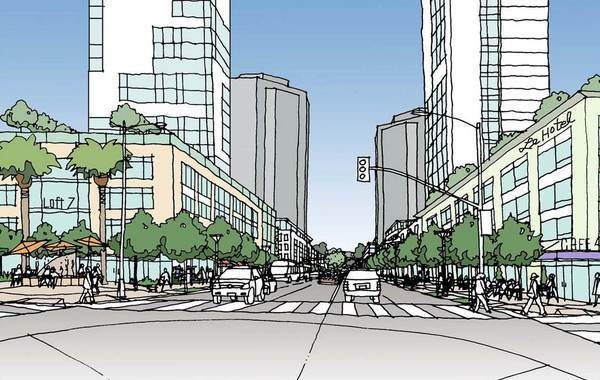 Rendering for Owensmouth Avenue, looking north