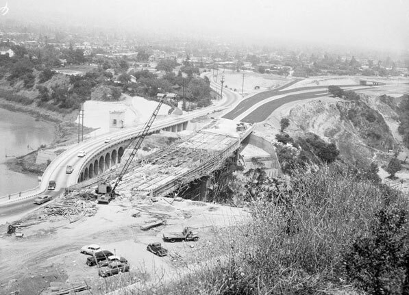 Same view as above, 11 months later. Courtesy of the Los Angeles Examiner Collection, USC Libraries.
