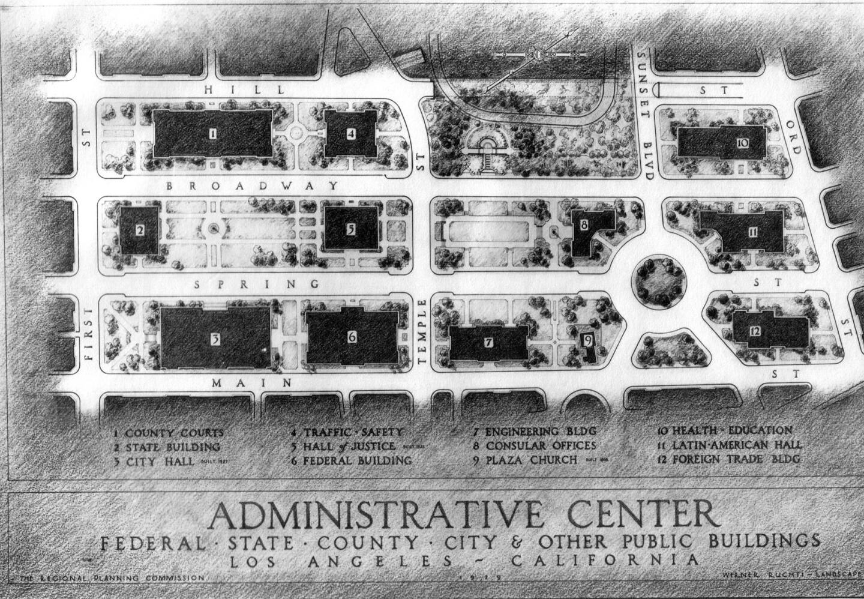 Adminsitrative Center plan, 1927