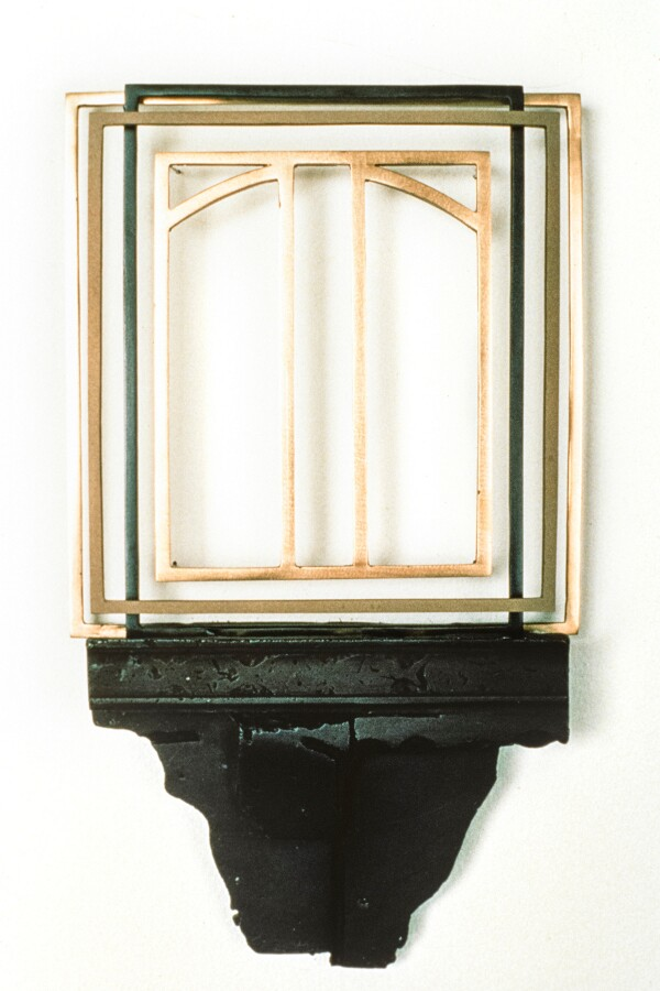 """Untitled #1,"" 1988, 12 x 7 inches, steel. 