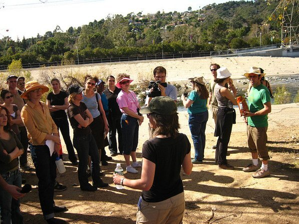 Jenny Price leads a L.A. River tour in 2007 | Photo by Zach Behrens