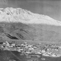 Cathedral City in the era of the Sven-Ska art colony with Mt. San Jacinto in background. | Courtesy of the Cathedral City Historical Society