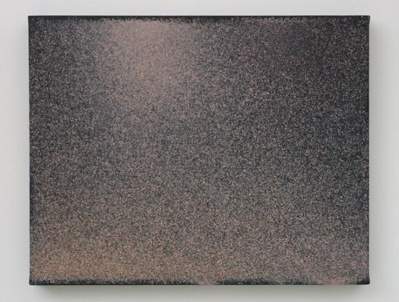 """John Knuth, """"Sunset,"""" 2013, Watercolor/Flyspeck on canvas, 23 x 30 in."""