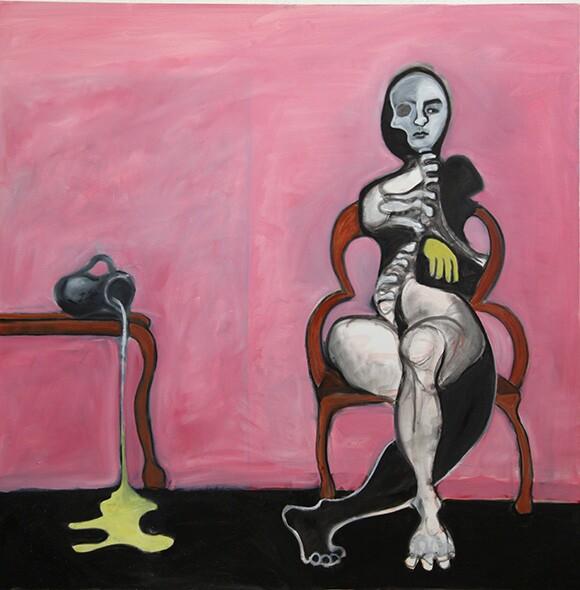 Mary Waronov painting   Photo: Victor Woronov