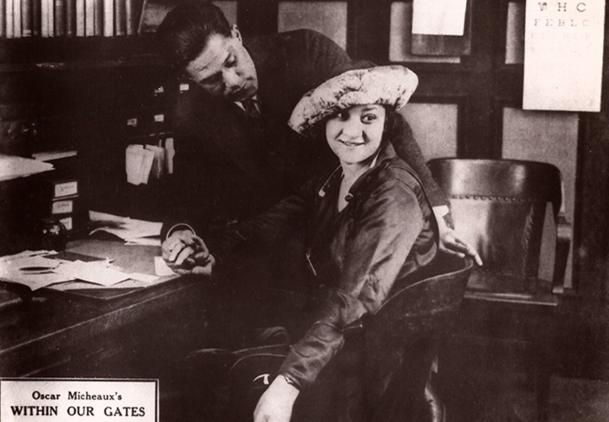 """Evelyn Preer as Sylvia Landry in """"Within Our Gates"""" (1920). USA. Directed by Oscar Micheaux   Library of Congress, Courtesy of the California African American Museum"""