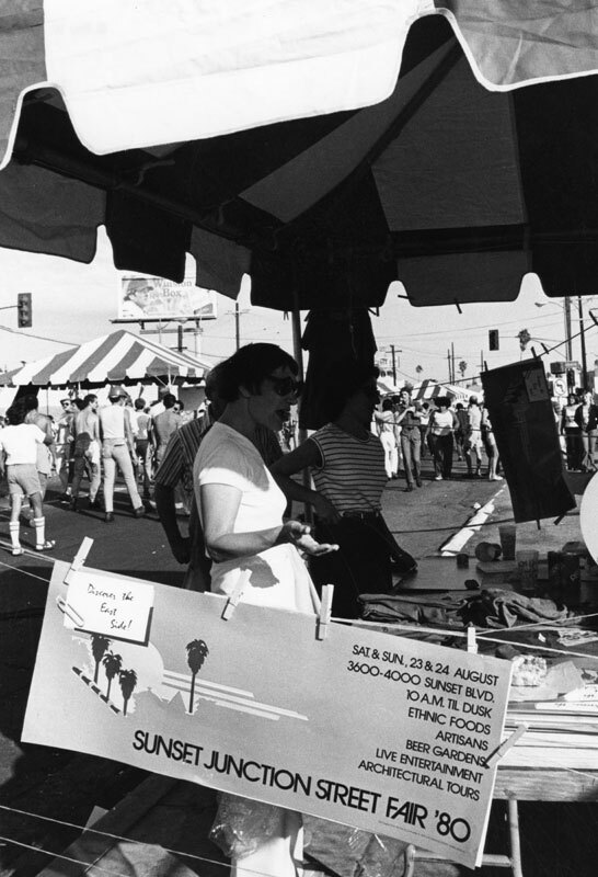Sunset Junction Street Inaugural Fair in 1980. Courtesy of the Los Angeles Public Library.