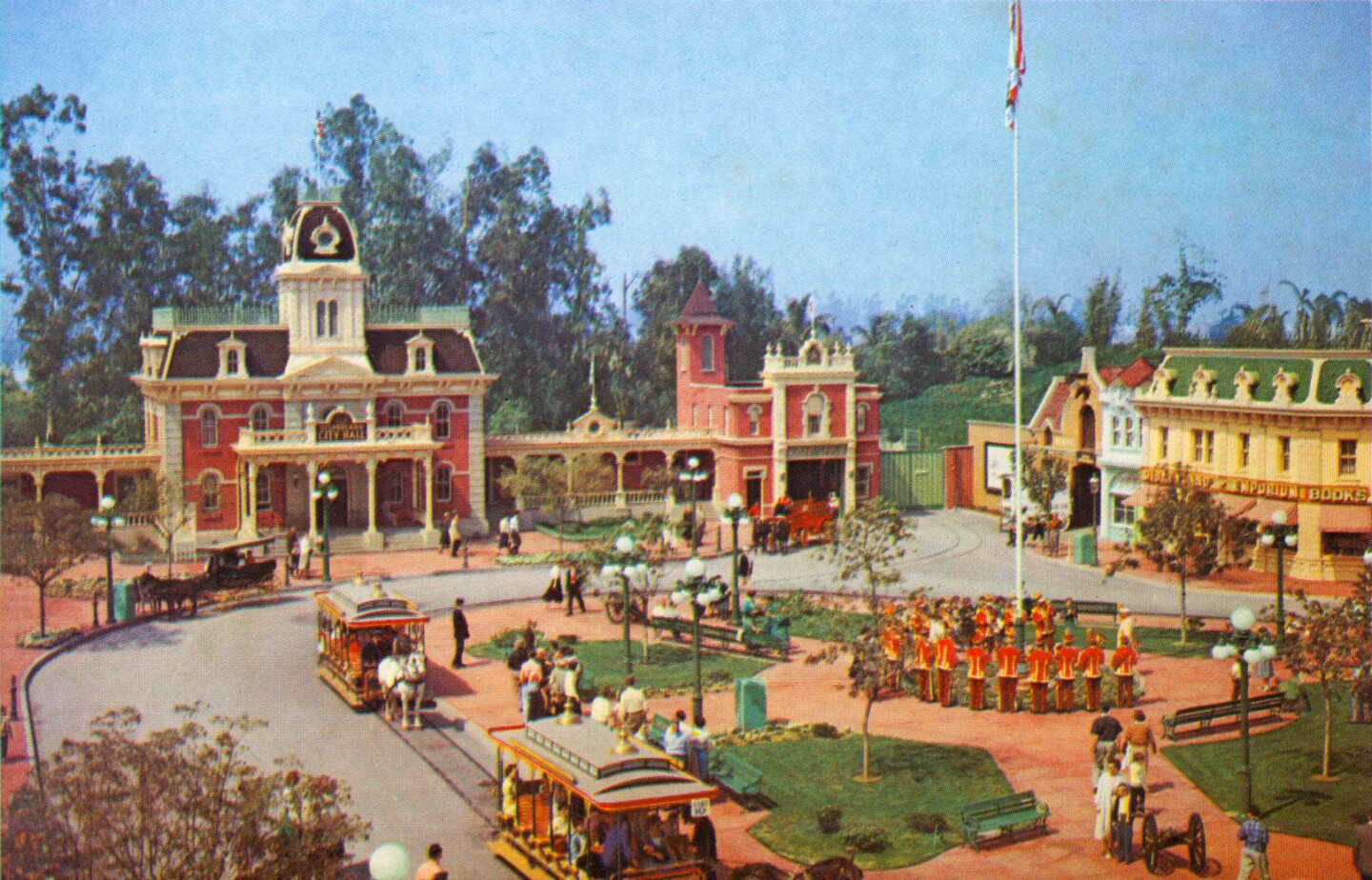 Town Square, Main Street, USA, 1957