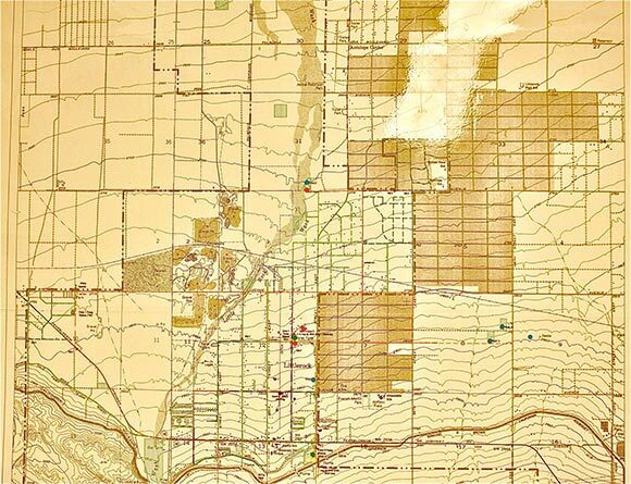 Map of Littlerock and Sun Village