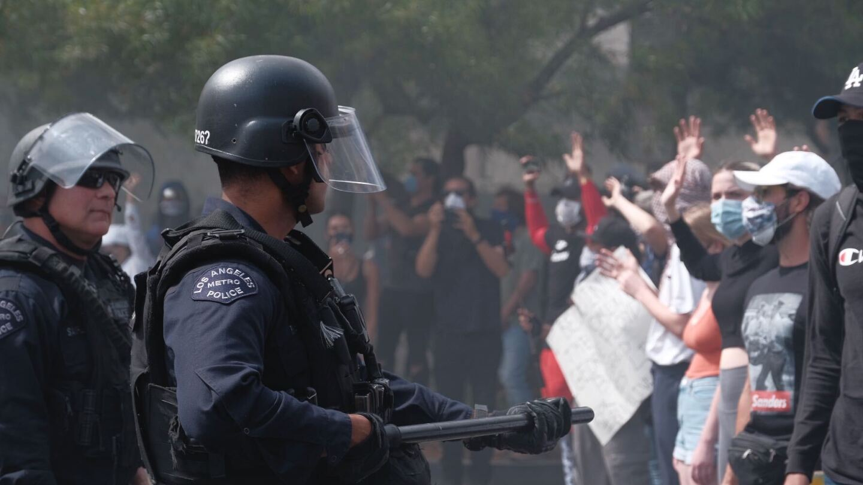 LAPD protest response