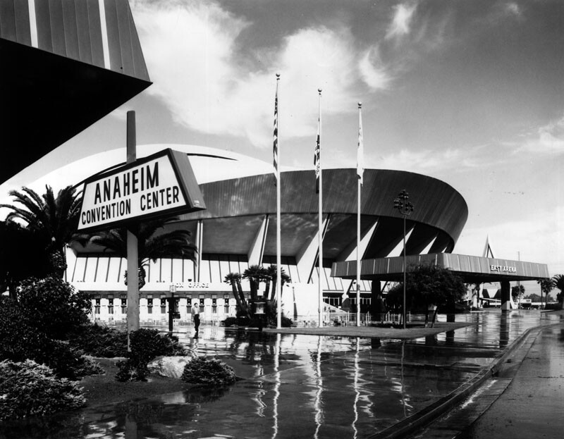 The Anaheim Convention Center arena in 1975. Courtesy of the Herald-Examiner Collection - Los Angeles Public Library.