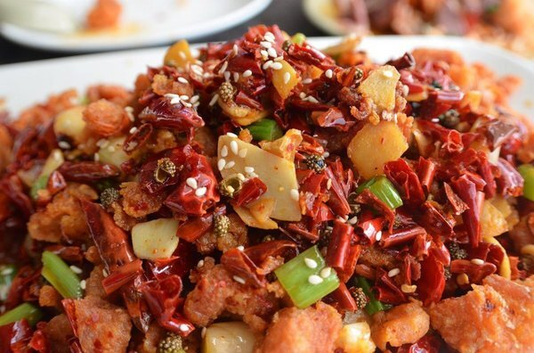 Spicy chicken cubes | Photo by Clarissa Wei