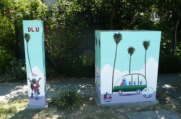 Utility Box Art by Scott Willis in San Jose