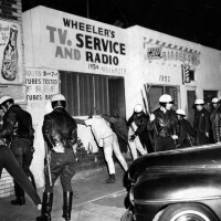 Search for weapons, Watts Riots, 1965 | Courtesy the Herald-Examiner Collection/Los Angeles Public Library