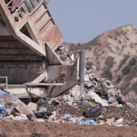Trash at Chiquita Canyon Landfill