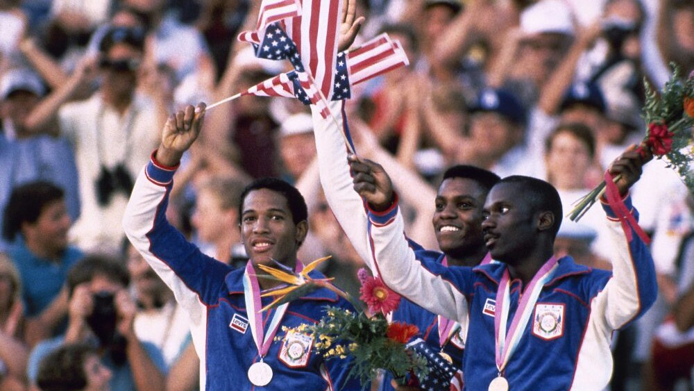Summer Olympic games in Los Angeles Aug.8, 1984.   photo by Associated Press