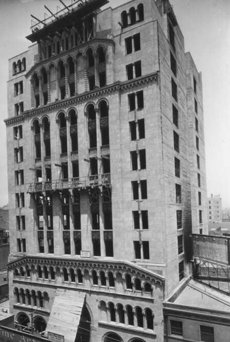 Fine Arts Building under construction, ca. 1926 | Security Pacific National Bank Collection, Los Angeles Public Library