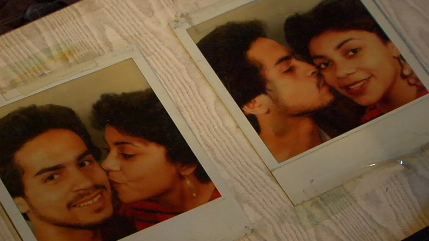 "Polaroids of a man and woman kissing each other on the cheek. | From ""America ReFramed: America Dreams Deferred"""