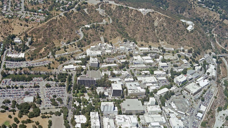 JPL from above in 2005.