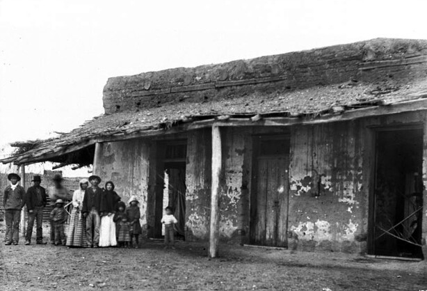 Store on Aliso Street, about 1882.