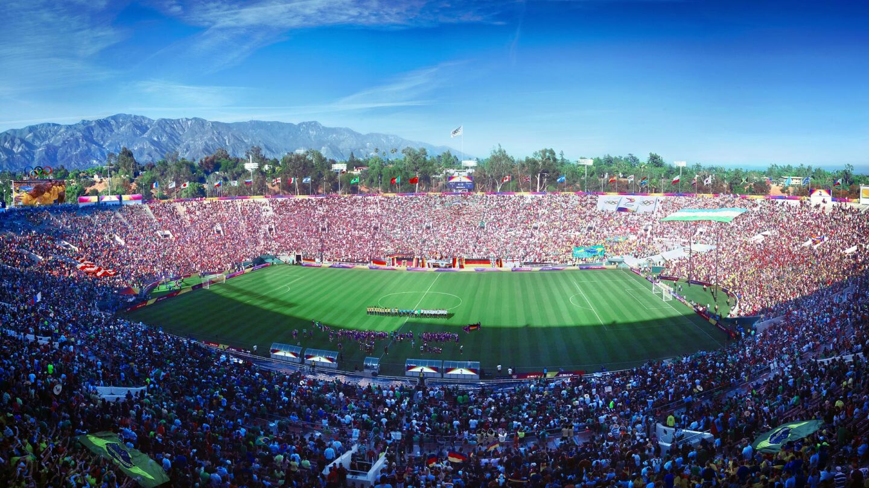 Soccer at Rose Bowl Stadium