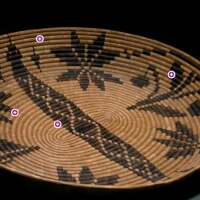 Cahuilla Basket Tray with interactive dots | Carren Jao