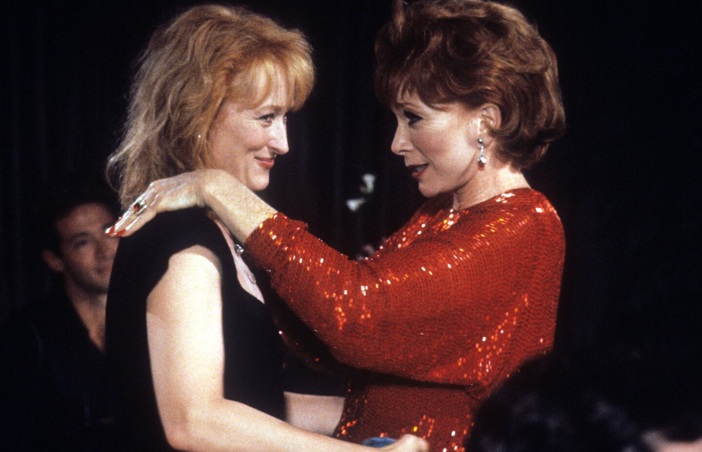 "Meryl Streep And Shirley MacLaine In ""Postcards From The Edge."""