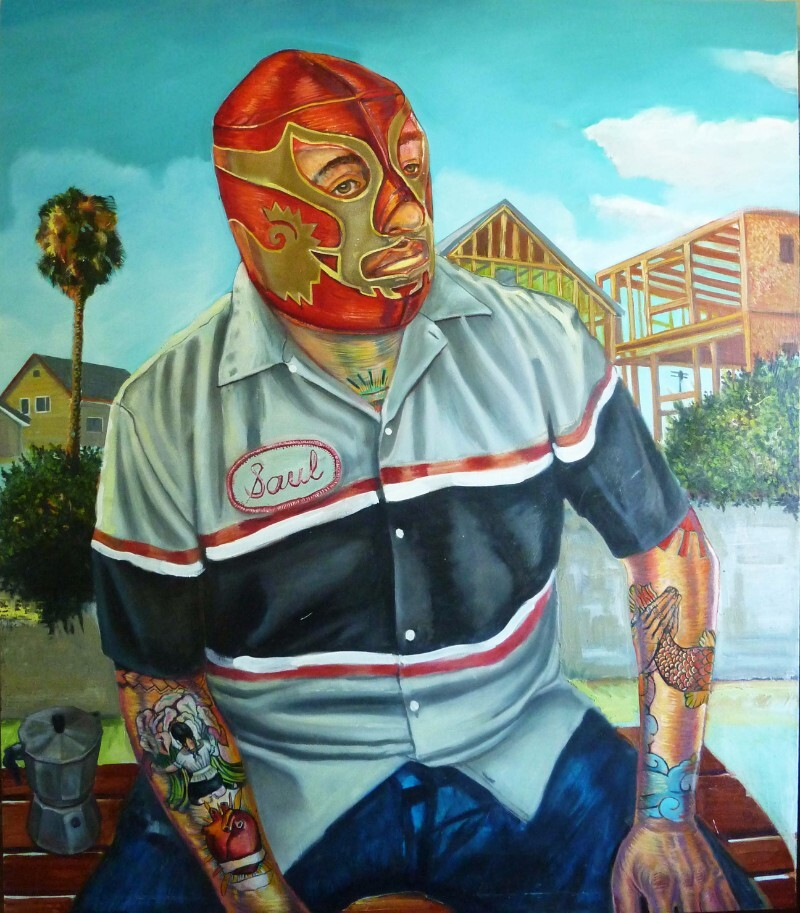 """Saul as Canek"" by Sergio Teran is featured in the exhibition ""E Pluribus Unum: Out of Many, One,"" at Studios on the Park in Paso Robles. 