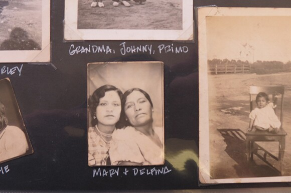 Mary Olvera and mother Delfina. From the family scrapbook of Rosalie Salutan Marquez. | Photo: Catherine Trujillo.
